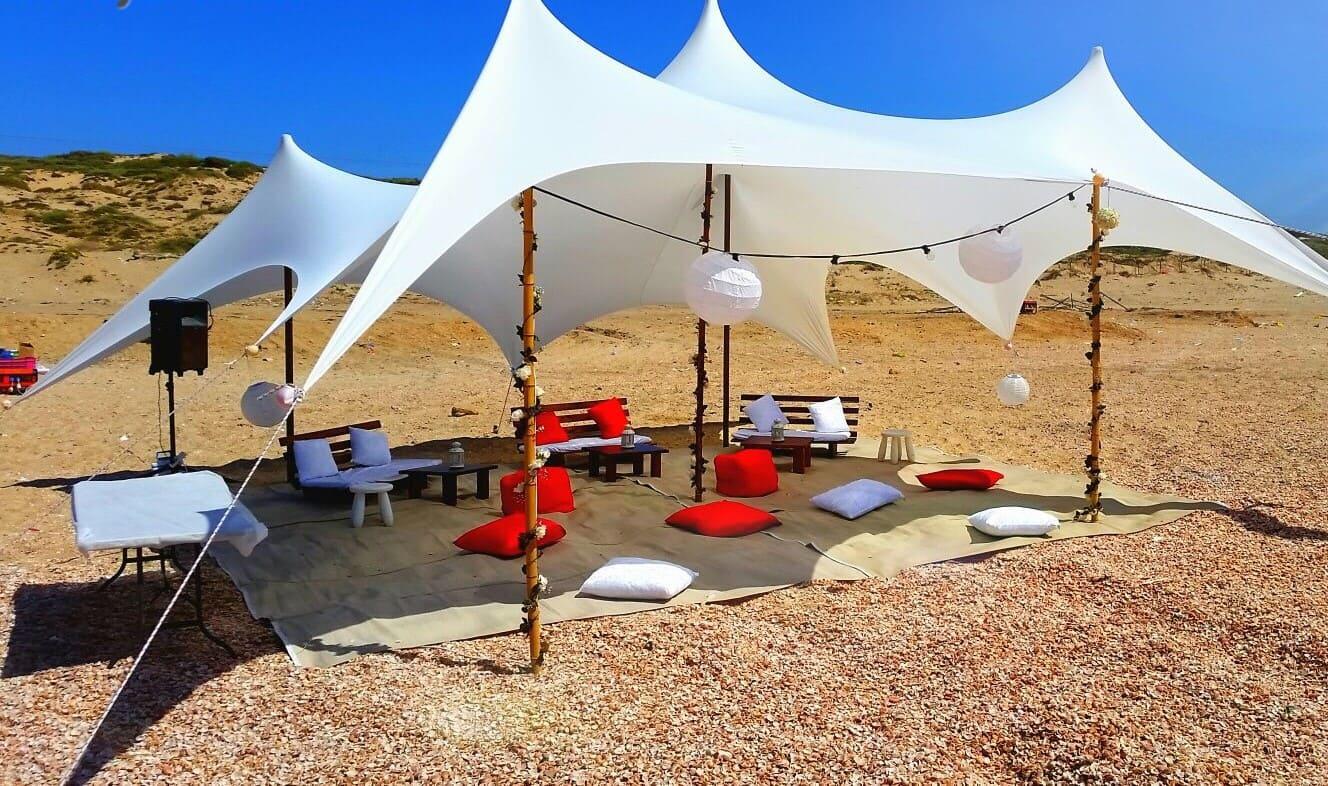 אוהלים להשכרה בים