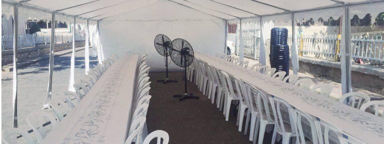 מדהים השכרת סוכות לאבלים I מבצע:סוכת אבלים להשכרה מ-899₪ - אוהלי נועם RY-79
